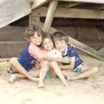 Tales of a Twin Mum's kids on a beach