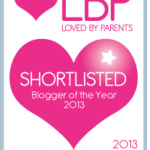 I made the Loved By Parents Blogger of the Year 2013 shortlist! Please vote for me!