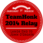 #TeamHonk Southampton to Worthing, Sat 18 and Sun 19 January 2014
