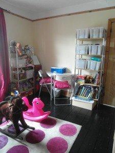 Shelves of toys