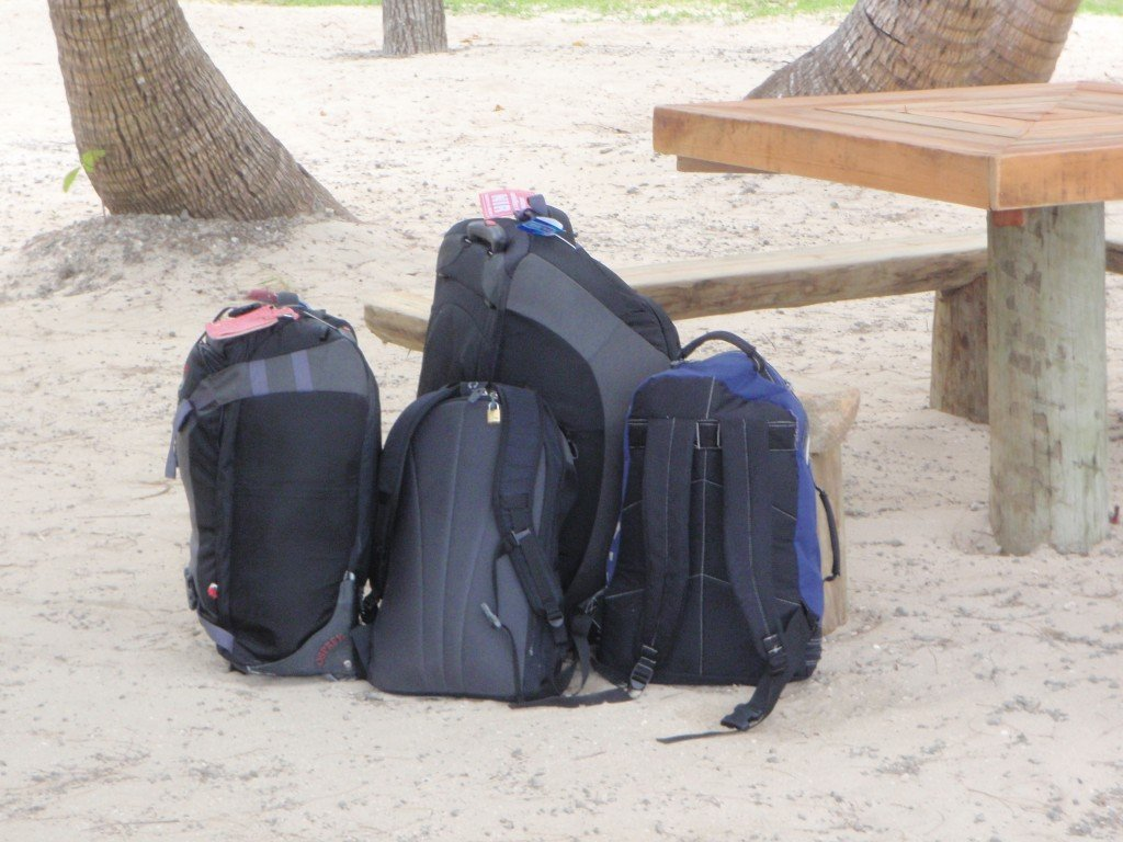 Suitcases and rucksacks