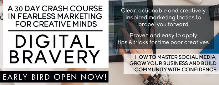 Advert for Early Bird rate Digital Bravery course