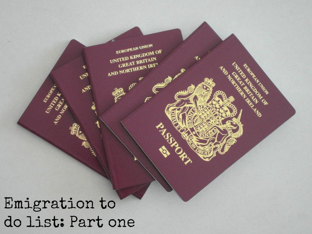 Stack of passports
