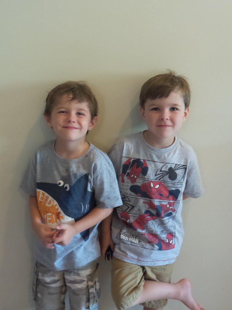 Non identical twin boys