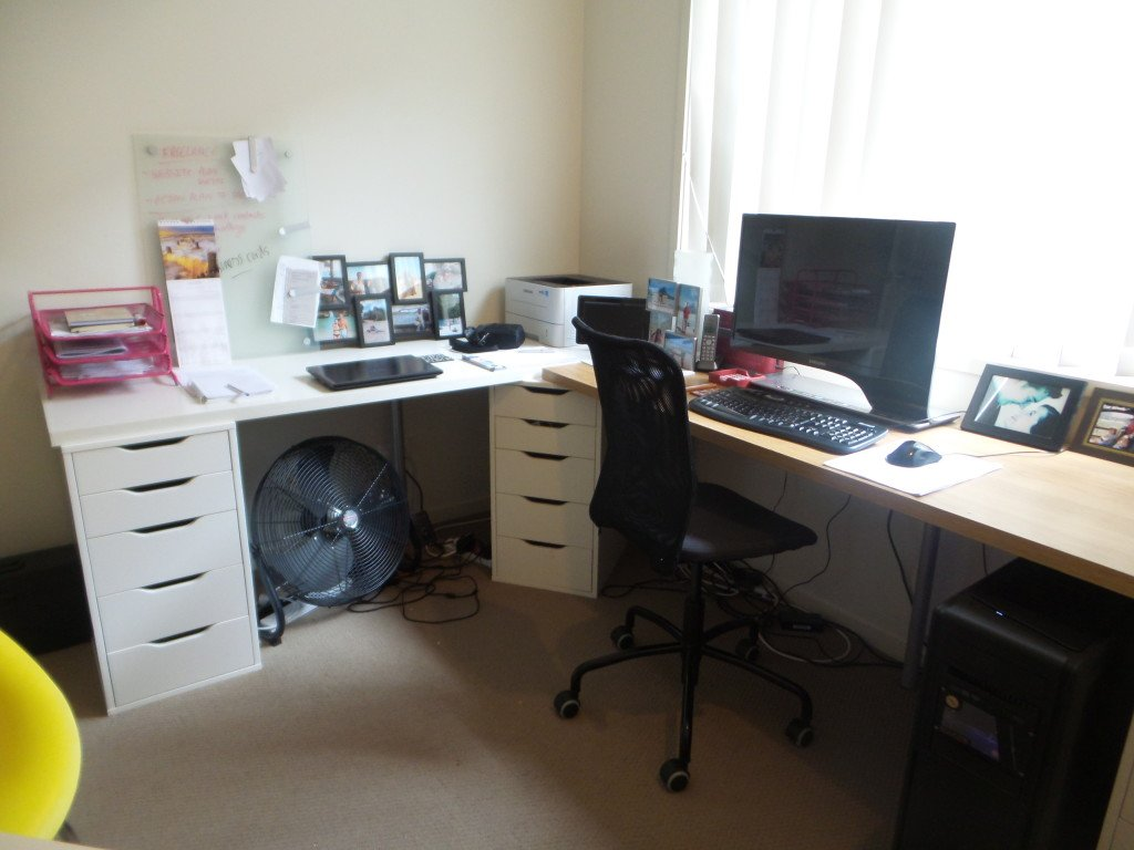 View of office desk and chair