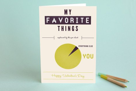 My Favourite Things Valentine's card from Minted