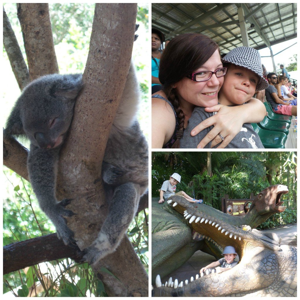 Shots of having some me time at Australia Zoo