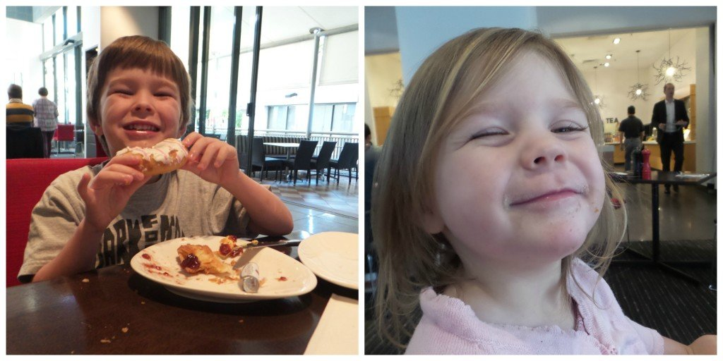 This is what the kids thought of breakfast #bigsmiles