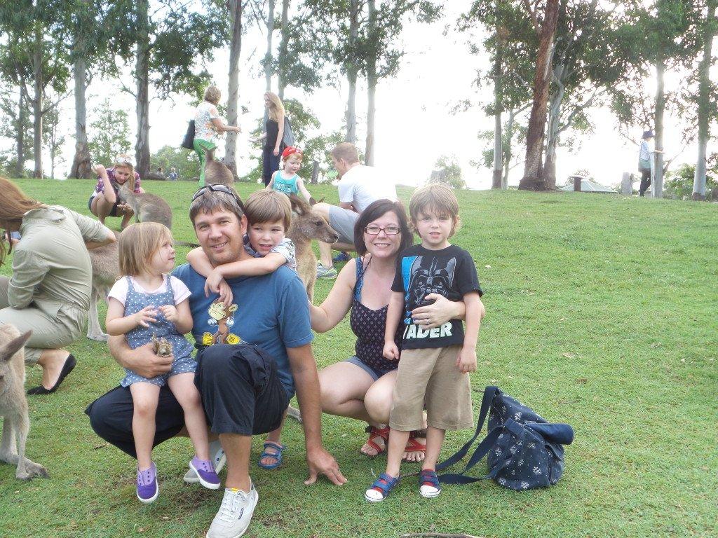 A family at Lone Pine Koala Sanctuary
