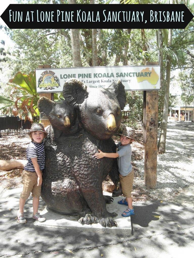 Two kids at Lone Pine Koala Sanctuary