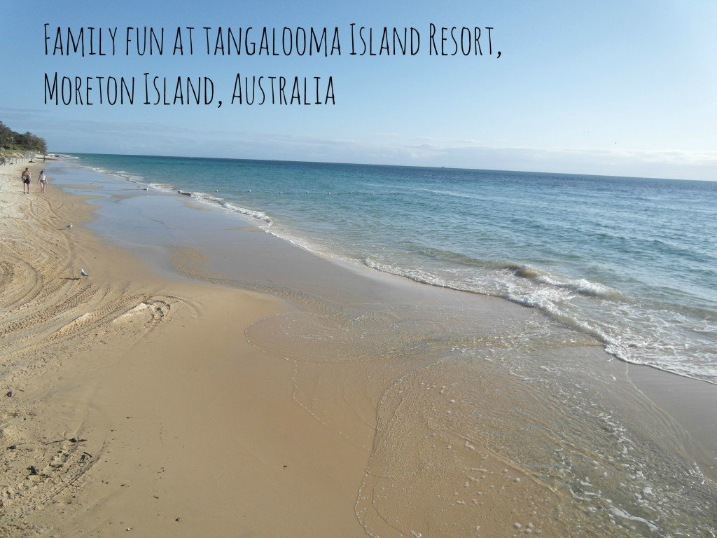 Family fun on the beach at Tangalooma Island Resort