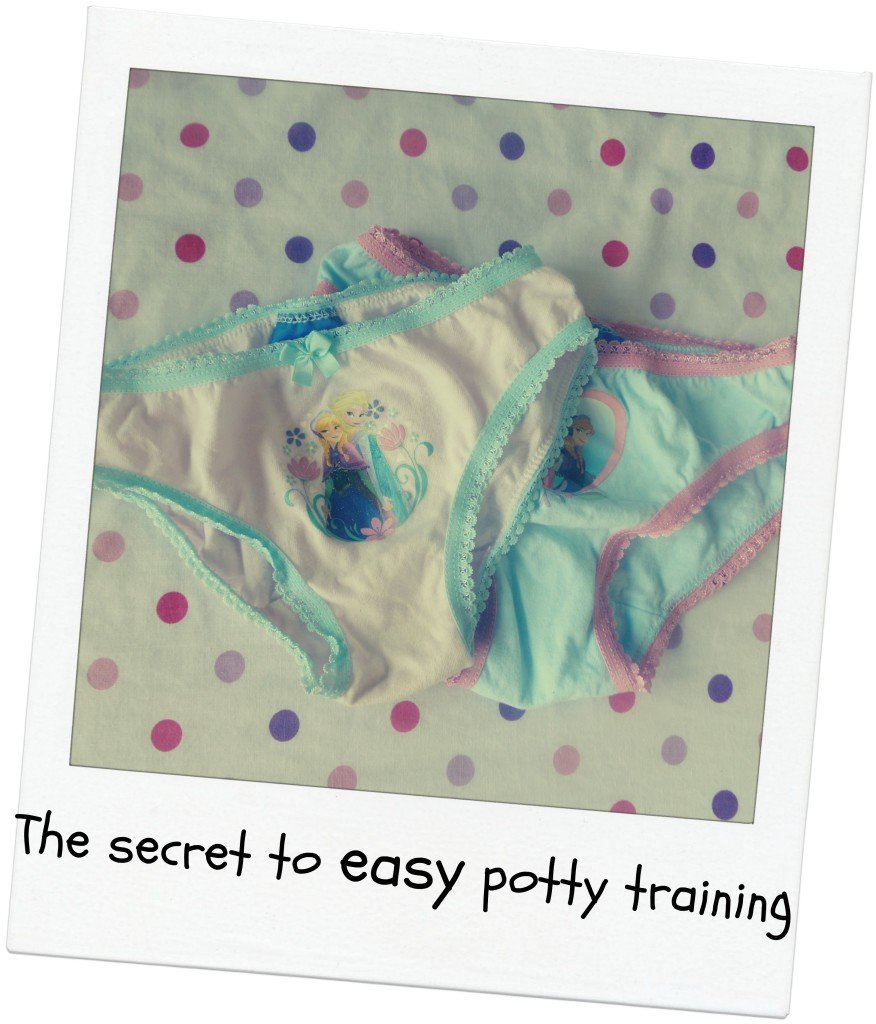 Secret to easy potty training - pants