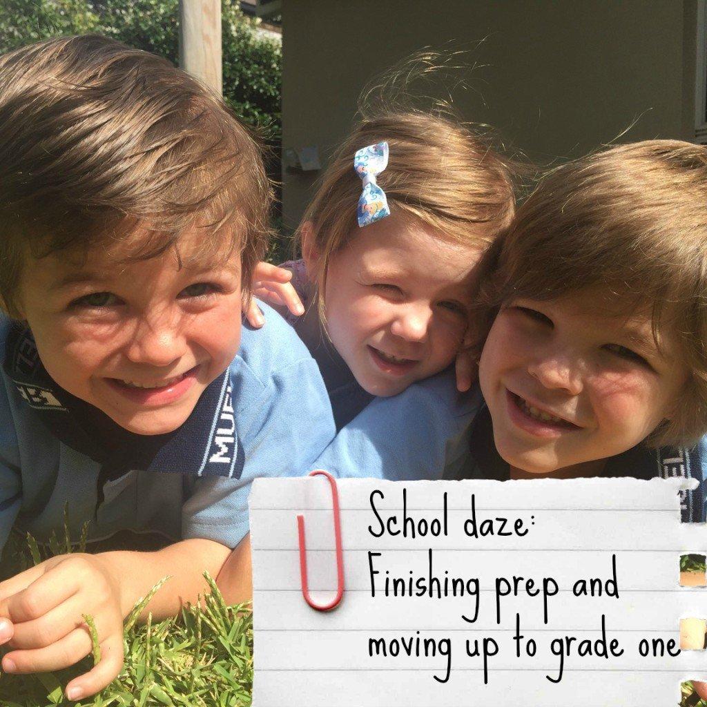Three kids - finishing prep