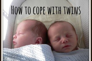 How to cope with twins - pic of newborn twins