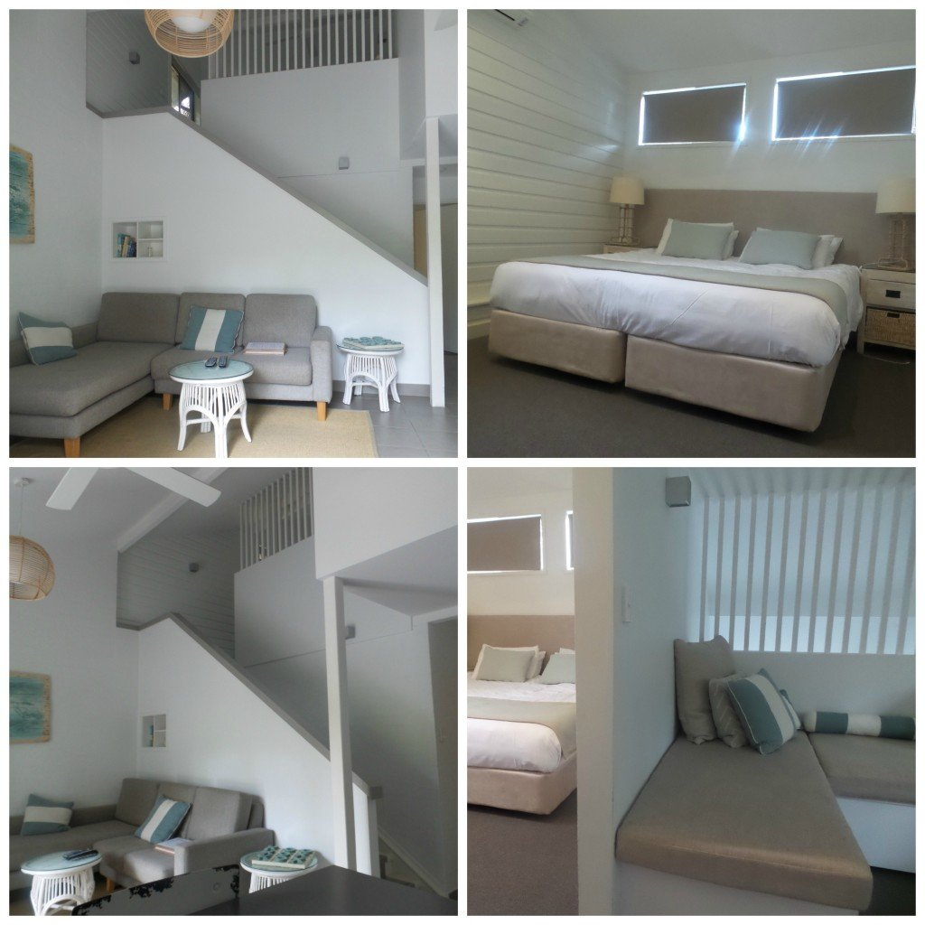 Collage of pics from Bayshire Bungalows at Byron Bay