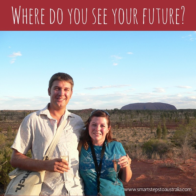Couple in front of Uluru - Smart Steps to Australia
