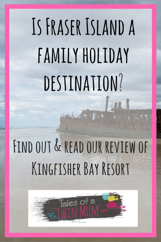 Fraser Island for families Pinterest graphic