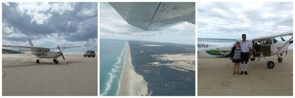 Fraser Island for families aerial shots from scenic flight