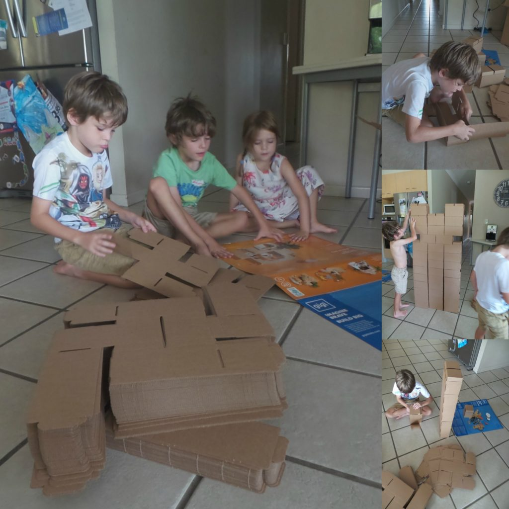 Kids playing with GigiBloks