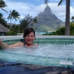 Karen in the spa at InterContinental Resort, Bora Bora