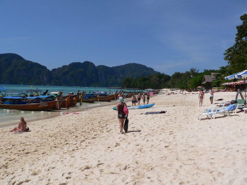 Karen on the beach at Koh Phi Phi